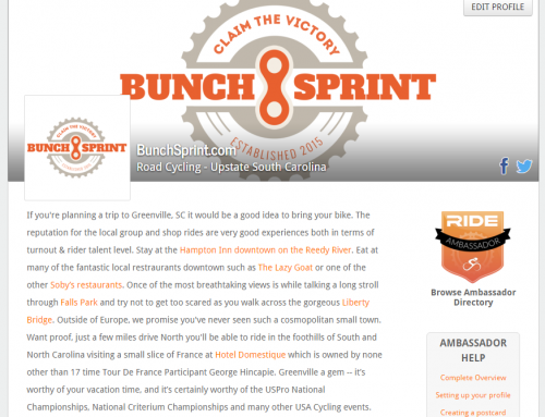 BunchSprint is now a RideWithGPS Ride Ambassador